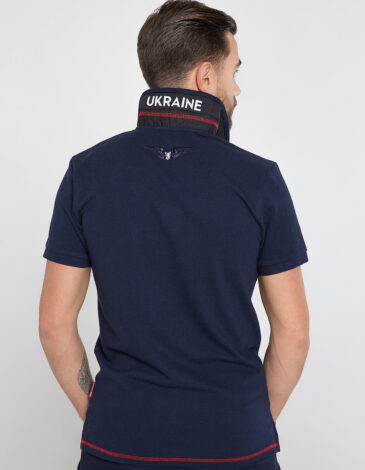 Men's Polo Shirt Wings. Color dark blue. Unisex polo (men's sizes).