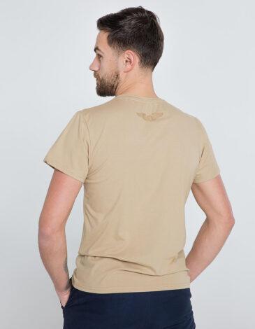 Men's T-Shirt Born In Ukraine. Color sand. Unisex T-shirt (men's sizes).