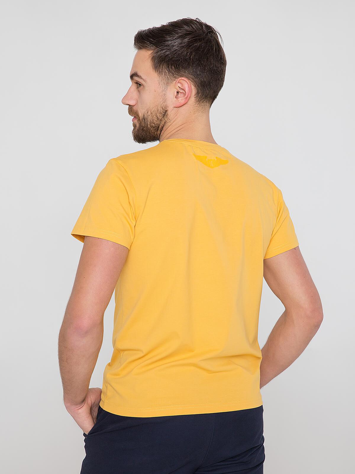 Men's T-Shirt Mriya. Color yellow.  Material: 95% cotton, 5% spandex.