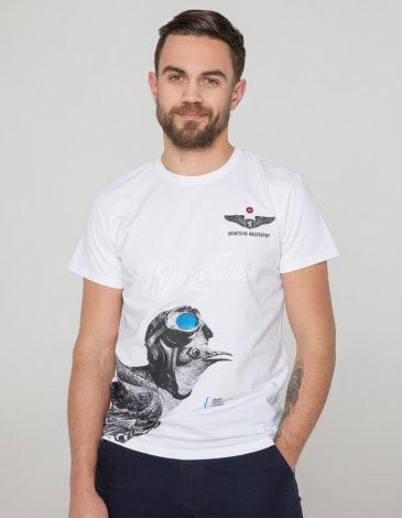 Men's T-Shirt Gowk. Color white. Unisex T-shirt (men's sizes).