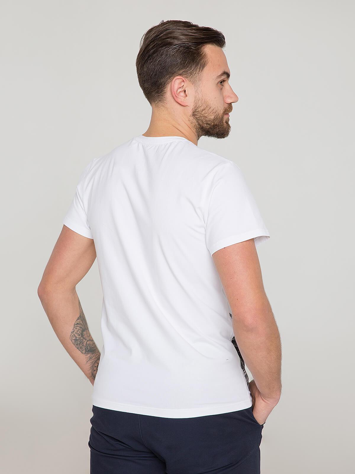 Men's T-Shirt Gowk. Color white.  Material: 95% cotton, 5% spandex.