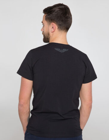 Men's T-Shirt Syla. Color black.  Material: 95% cotton, 5% spandex.
