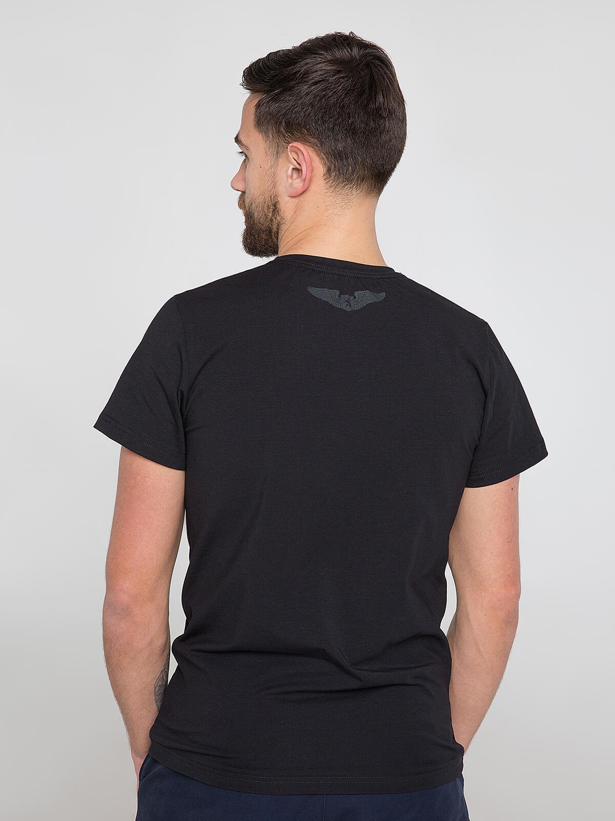 Men's T-Shirt Syla. Color black.  Material: 95% cotton, 5% spandex.