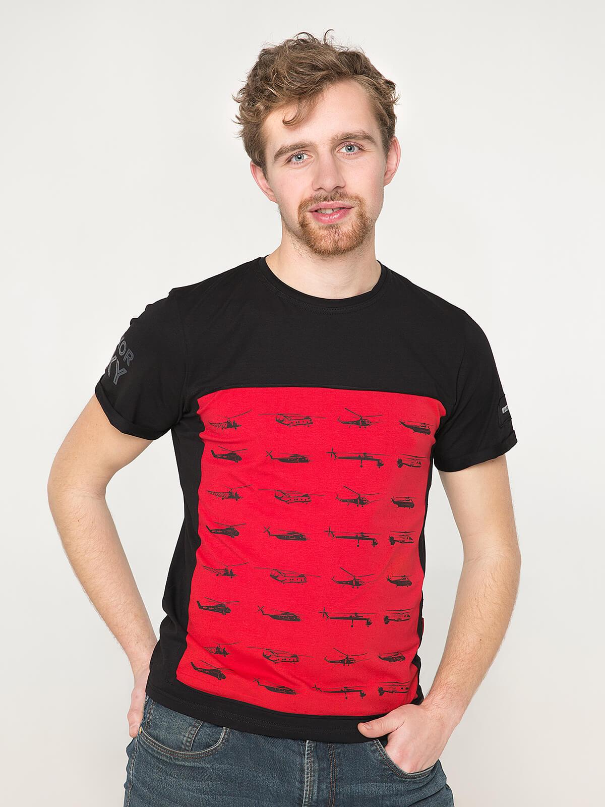 Men's T-Shirt Sikorsky. Color black. Unisex T-shirt (men's sizes).