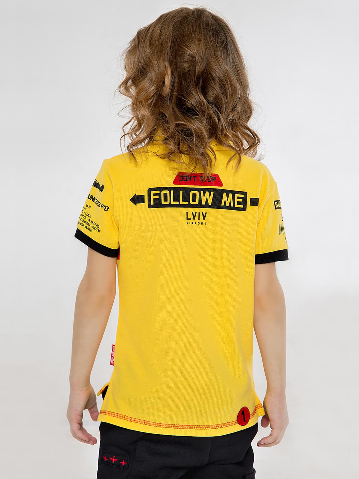 Дитяче Поло Follow Me. Колір жовтий. 3.