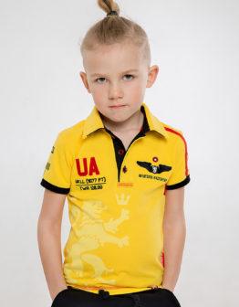 Kids Polo Shirt Follow Me. Color yellow. Тканина піке: 100% бавовна Технологія нанесення: шовкодрук, вишивка.