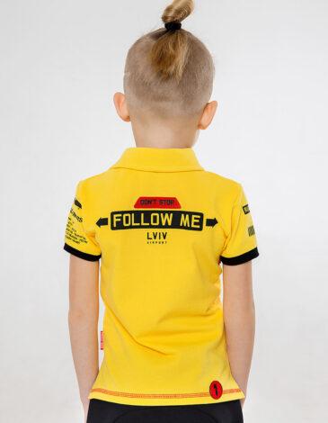 Дитяче Поло Follow Me. Колір жовтий. Тканина піке: 100% бавовна Технологія нанесення: шовкодрук, вишивка  Відтінки кольорів на вашому екрані можуть відрізнятися від кольору оригіналу.
