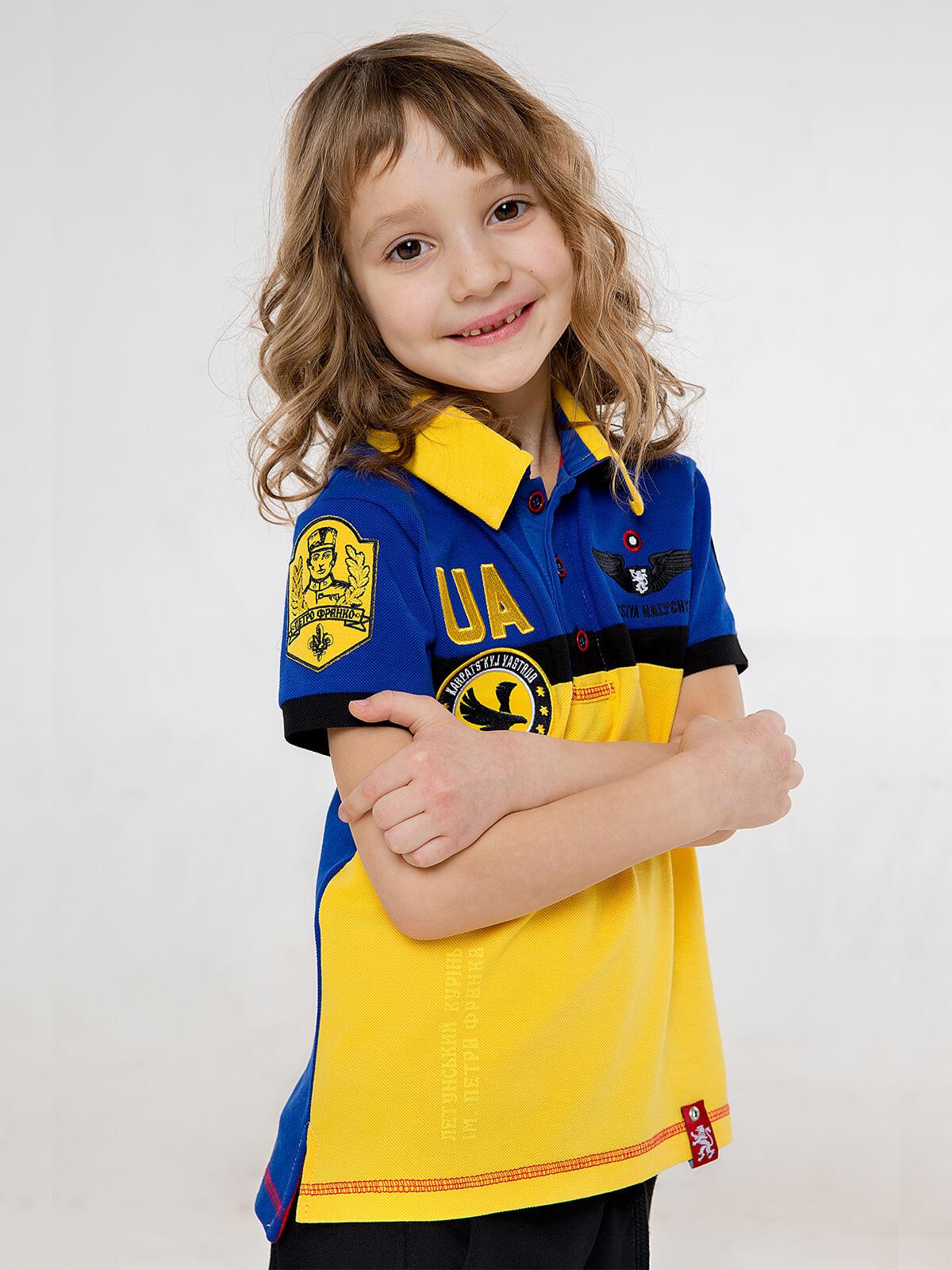 Kids Polo Shirt 7 Brigade (Petro Franko). Color navy blue. 4.