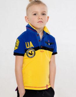 Kids Polo Shirt 7 Brigade (Petro Franko). Color navy blue. Тканина піке: 100% бавовна.