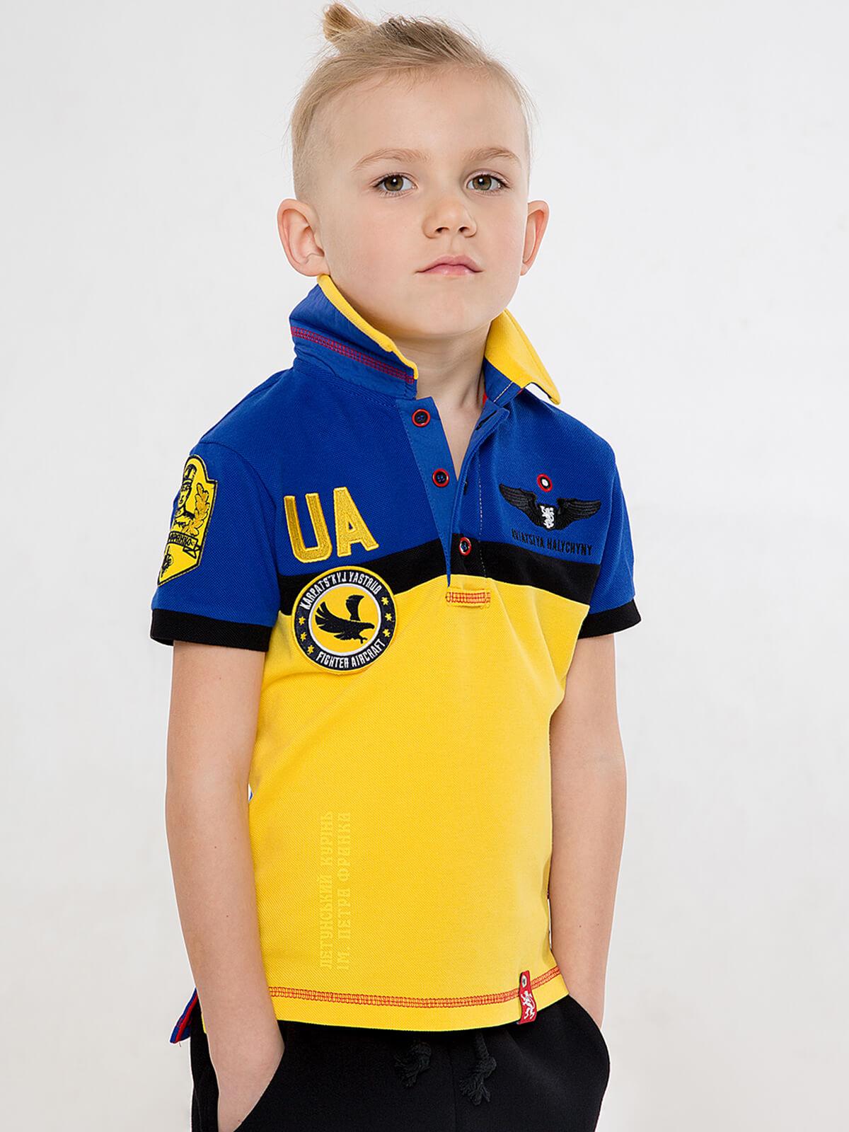 Kids Polo Shirt 7 Brigade (Petro Franko). Color navy blue. Pique fabric: 100% cotton.