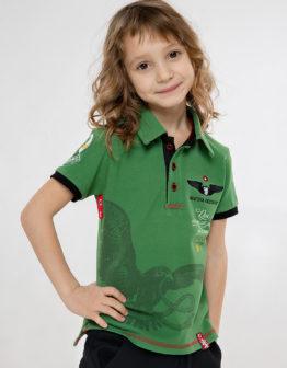Kids Polo Shirt Ivan Franko. Color green. Поло: унісекс, добре пасує і хлопцям, і дівчатам.