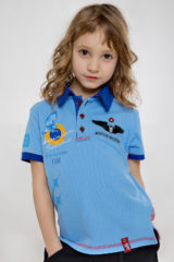 Kids Polo Shirt Ukrainian Falcons. Pique fabric: 100% cotton.