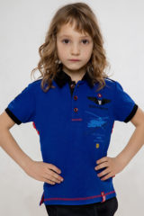 Kids Polo Shirt Sikorsky. Pique fabric: 100% cotton.