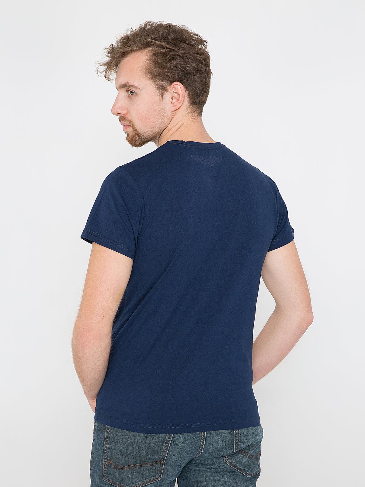 Men's T-Shirt Ukrainian Air Force. Color dark blue.  Material: 95% cotton, 5% spandex.