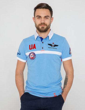 Чоловіче Поло Molfar. Колір блакитний. Тканина піке: 100% бавовна.