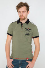 Men's Polo Shirt Sikorsky. Pique fabric: 100% cotton.