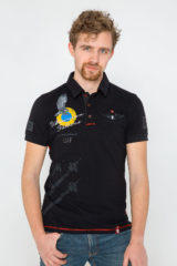 Men's Polo Shirt Ukrainian Falcons. Pique fabric: 100% cotton.
