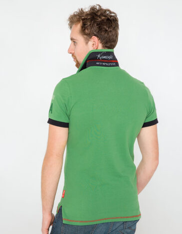 Men's Polo Shirt Ivan Franko. Color green. Pique fabric: 100% cotton.