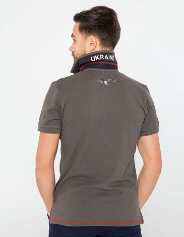 Men's Polo Shirt Wings. Color khaki brown.  Pique fabric: 100% cotton.