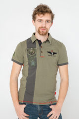 Men's Polo Shirt 16 16 Brigade. Pique fabric: 100% cotton.