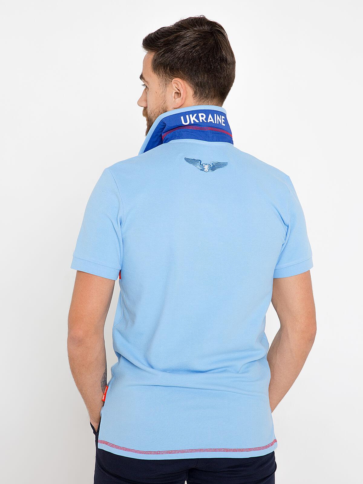 Чоловіче Поло Крила. Колір блакитний.  Тканина піке: 100% бавовна.