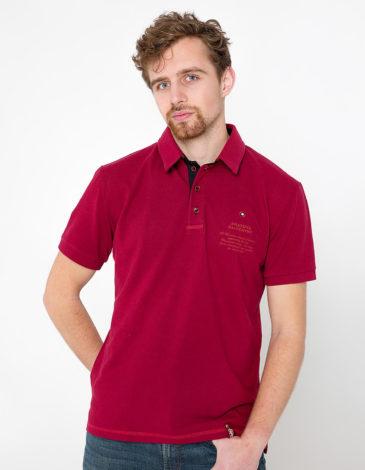 Men's Polo Shirt Wings. Color claret. 7.