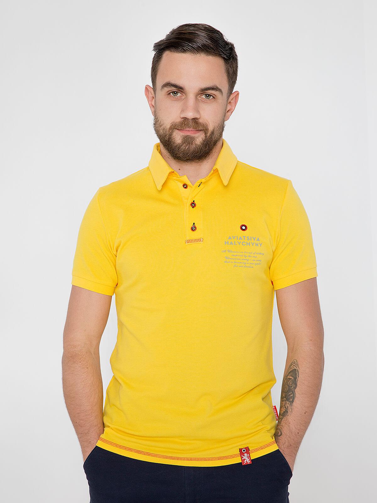 Чоловіче Поло Крила. Колір жовтий. Поло унісекс (розміри чоловічі).