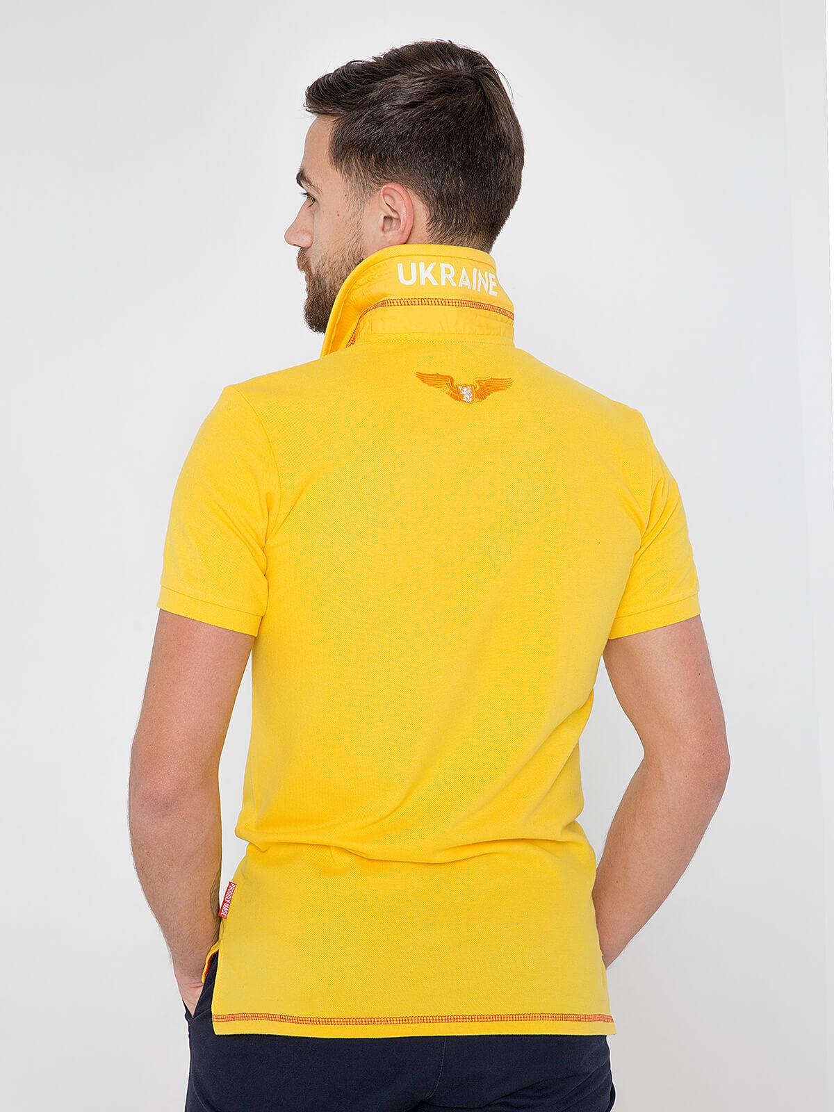 Чоловіче Поло Крила. Колір жовтий.  Тканина піке: 100% бавовна.