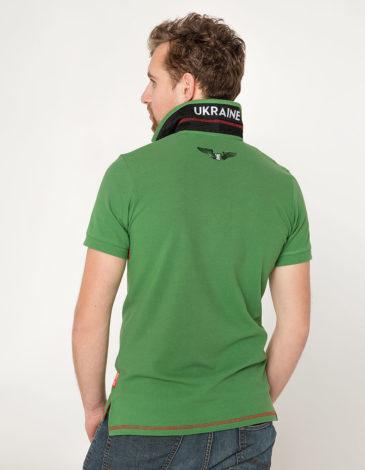 Men's Polo Shirt Wings. Color green. 9.