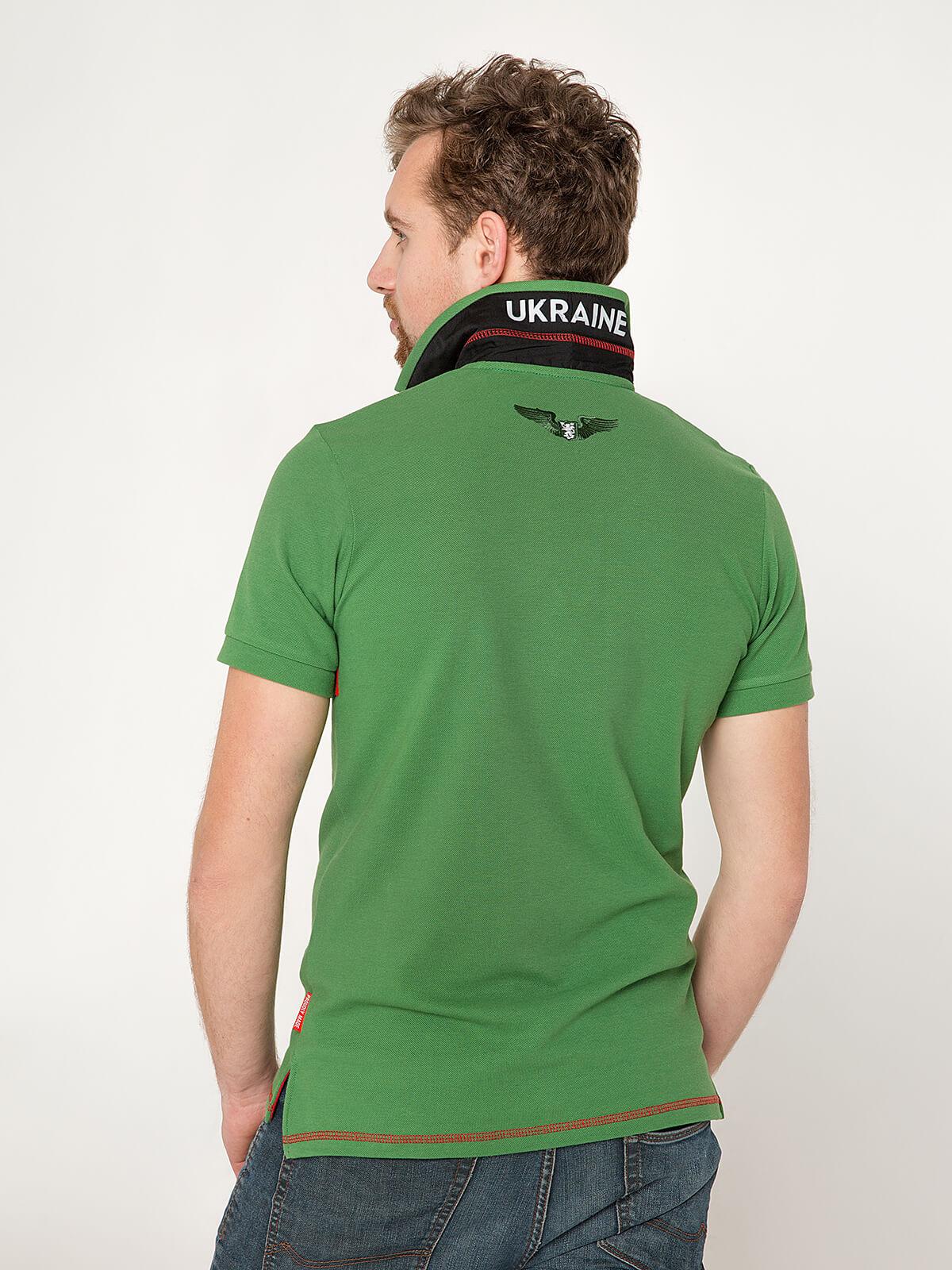 Чоловіче Поло Крила. Колір зелений.  Тканина піке: 100% бавовна.