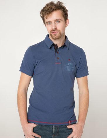 Men's Polo Shirt Wings. Color denim. 7.