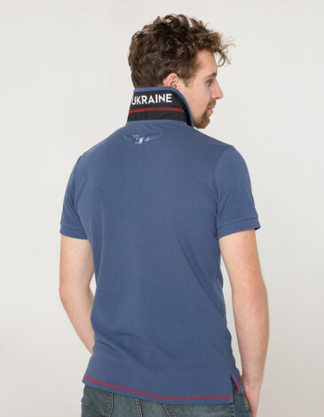 Men's Polo Shirt Wings. Color denim. 8.
