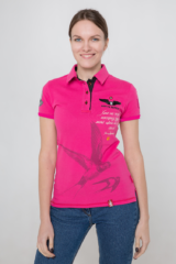 Women's Polo Shirt Lesia Ukrainka. Pique fabric: 100% cotton.