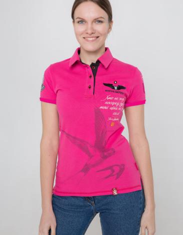 Жіноче Поло Леся Українка. Колір рожевий. Тканина піке: 100% бавовна.