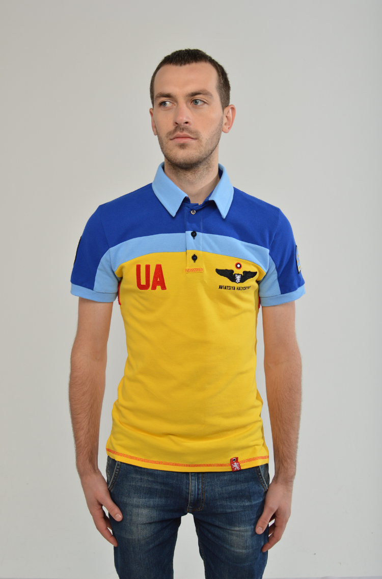 Men's Polo Shirt 114 Brigade (Ivano-Frankivsk). Color yellow. Тканина піке: 100% бавовна.