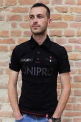 Men's Polo Long Air Race Dnipro. Pique fabric: 100% cotton.
