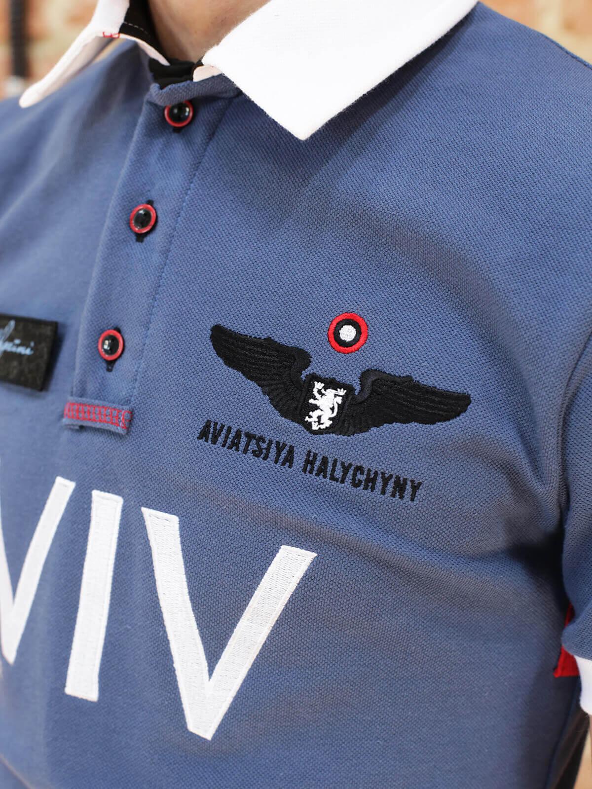 Men's Polo Long Air Race Lviv. Color denim.  .