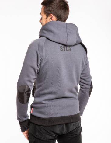 Чоловіче Худі Syla. Колір графітовий.  Матеріал худі – тринитка: 77% бавовна, 23% поліефір.