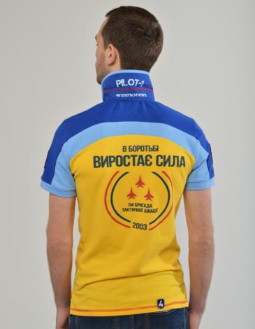 Чоловіче Поло 114 Бригада (Івано-Франківськ). Колір жовтий. .