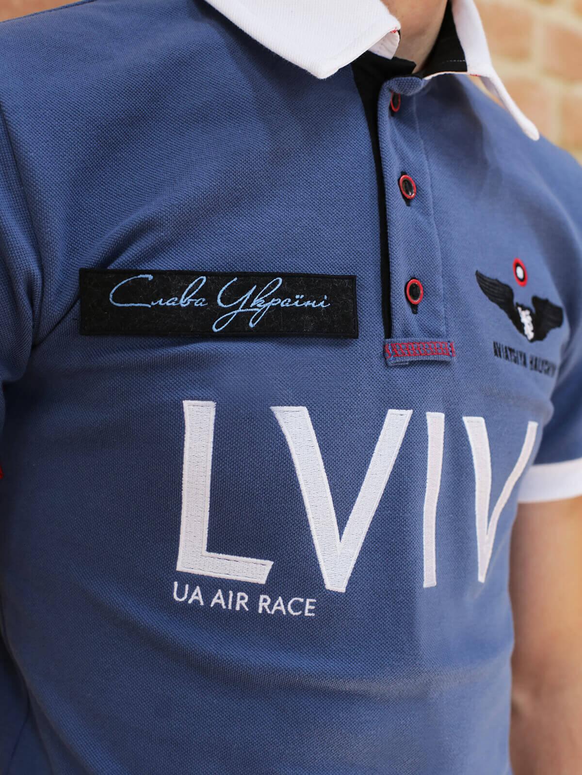 Men's Polo Long Air Race Lviv. Color denim. 5.
