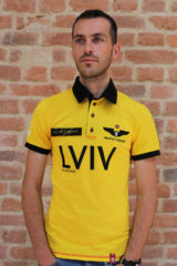 Men's Polo Long Air Race Lviv. Pique fabric: 100% cotton.