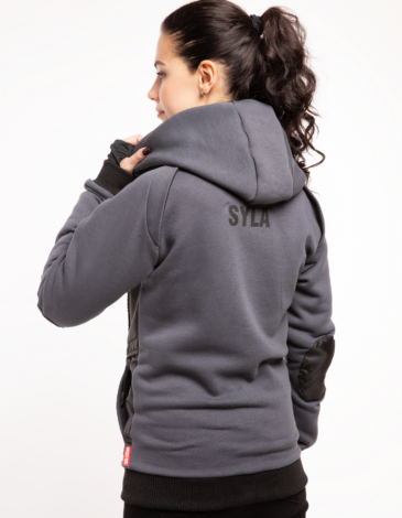 Women's Hoodie Syla. Color graphite.  Don't worry about the universal size.