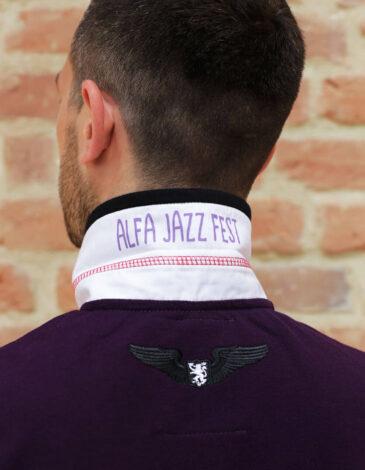 Men's Polo Shirt Lviv Summer Days. Color purple.  Тканина піке: 100% бавовна.