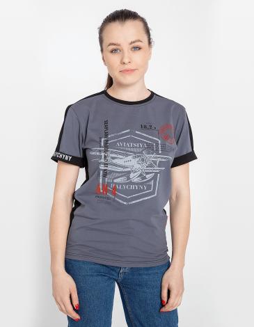 Women's  T-Shirt An-4. Color gray. Unisex T-shirt (men's sizes).