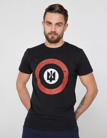Men's T-Shirt Roundel. Color black. Unisex T-shirt (men's sizes).
