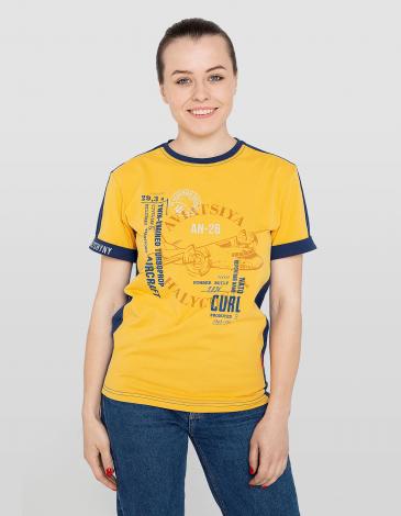 Жіноча Футболка Аn-26. Колір жовтий. Футболка унісекс (розміри чоловічі).