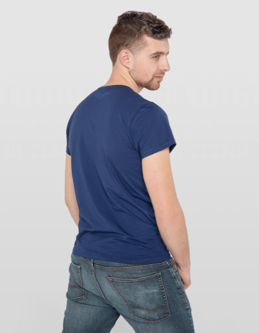 Men's T-Shirt Kosmolit Kosiv. Color dark blue. Material: 95% cotton, 5% spandex.