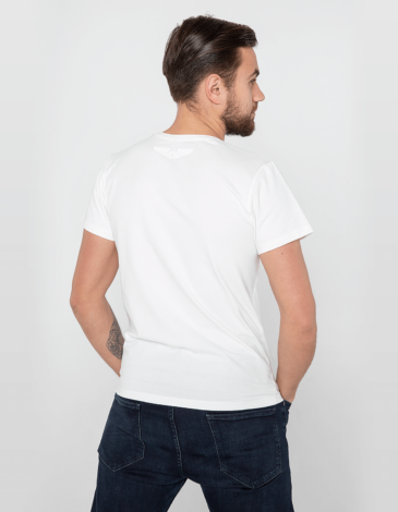 Men's T-Shirt Flu. Color off-white. Material: 95% cotton, 5% spandex.