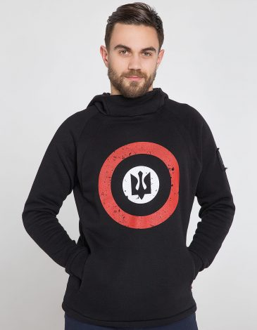 Men's Hoodie Roundel. Color black. Size worn by the model: М.