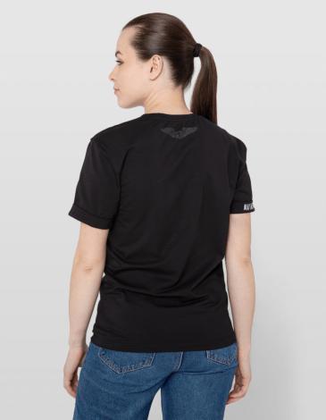 Women's T-Shirt An-2 B&w. Color white. Unisex T-shirt (men's sizes).